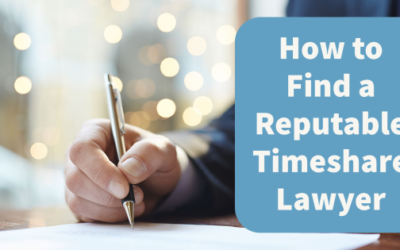 How to Find a Reputable Timeshare Lawyer